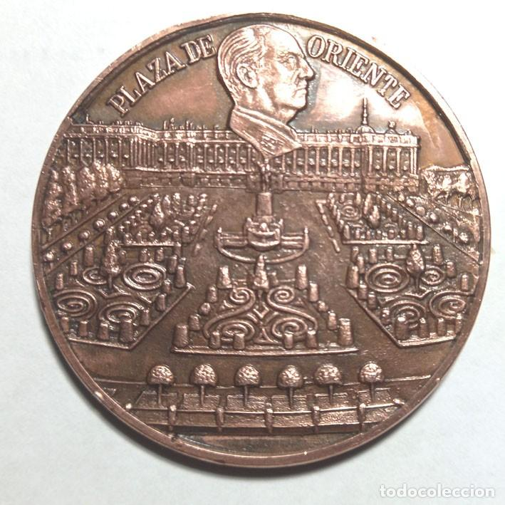MEDALLA BRONCE FUNDACIÓN FRANCISCO FRANCO , PLAZA DE ORIENTE (Numismática - Medallería - Histórica)