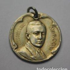 Medaglie storiche: 150,, MEDALLA DE HONOR Y BENEFICENCIA, GUILLERMO MARCONI INVENTOR ITALIANO. EN PLATA. Lote 267461489