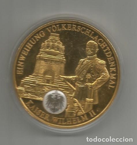 ALEMANIA HISTÓRICA - INAUGURACIÓN DEL MONUMENTO DE LA BATALLA - BAÑADA DE ORO - NUEVA - MEDIO 50 MM (Numismática - Medallería - Histórica)