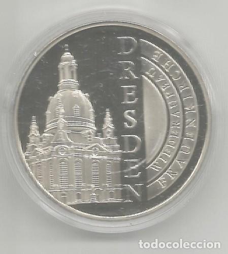 ALEMANIA - MEDALLA DE 1 OZ CU-NIQUEL- PROOF - RECONSTRUCCIÓN DE LA IGLESÍA DE MUJERES DRESDEN, NUEVA (Numismática - Medallería - Histórica)