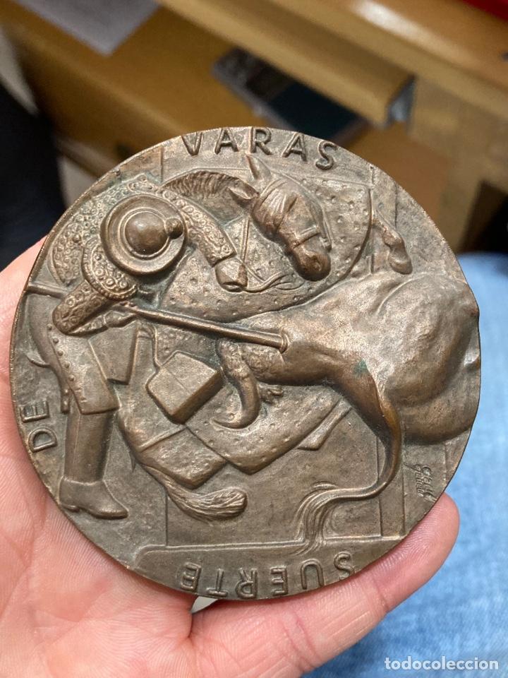Medallas históricas: Preciosa medalla motivos taurinos - Foto 2 - 267899774