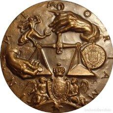 Medallas históricas: ESPAÑA. MEDALLA F.N.M.T. 200 ANIVERSARIO PALACIO REAL. 1.975. BRONCE. Lote 268988029
