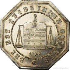 Medallas históricas: [#719907] FRANCIA, TOKEN, NOTAIRES DE L'ARRONDISSEMENT D'AMIENS, 1854, SC, PLATA. Lote 269180918