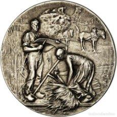 Medallas históricas: [#718359] FRANCIA, MEDALLA, COMICE AGRICOLE DE L'ARRONDISSEMENT DE VERVINS, AISNE, RIVET. Lote 269187902