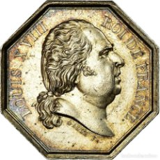Medallas históricas: [#717207] FRANCIA, TOKEN, LOUIS XVIII, PRÉFECTURE DE POLICE, GALLE, EBC, PLATA. Lote 269188294