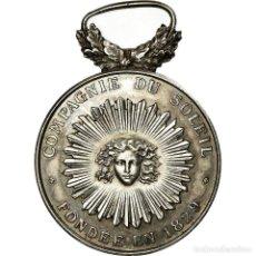 Medallas históricas: [#716627] FRANCIA, TOKEN, INSURANCE, COMPAGNIE DU SOLEIL, INCENDIE, 1829, EBC, PLATA. Lote 269190038