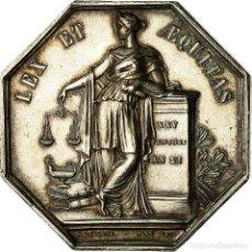 Medallas históricas: [#718297] FRANCIA, TOKEN, NOTAIRES DE L'ARRONDISSEMENT DE LILLE, LECOMTE, EBC+, PLATA. Lote 269191043