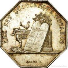 Medallas históricas: [#717088] FRANCIA, TOKEN, NOTAIRES DE L'ARRONDISSEMENT D'AUXERRE, 1838, CAQUÉ, EBC. Lote 269191058