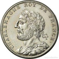 Medallas históricas: [#716468] FRANCIA, MEDALLA, LES ROIS DE FRANCE, CHARLEMAGNE, HISTORY, PIÉFORT, FDC. Lote 269191413