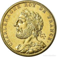 Medallas históricas: [#716452] FRANCIA, MEDALLA, LES ROIS DE FRANCE, CHARLEMAGNE, HISTORY, PIÉFORT, FDC. Lote 269191433