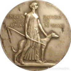 Medallas históricas: FRANCIA. MEDALLA DE LA FEDERACIÓN FRANCESA DE ARMAS DE CAZA. 1.964. PLATA. Lote 269317728