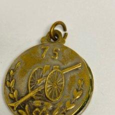 Medallas históricas: RELICARIO FOTOGRÁFICO DE LOS AÑOS 1913 CON MOTIVO DE CAÑÓN DE 75MM, 1 GUERRA MUNDIAL ARTILLERÍA. Lote 269458493