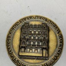 Medallas históricas: MEDALLA COLEGIO OFICIAL DE GRADUADOS SOCIALES DE VALENCIA, NUEVA SEDE SOCIAL 1998. Lote 269469358