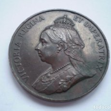 Medallas históricas: 76SCD14 GRAN BRETAÑA 1897 JUBILEO DE DIAMANTES DE LA REINA VICTORIA MEDALLA DE BRONCE. Lote 269982353