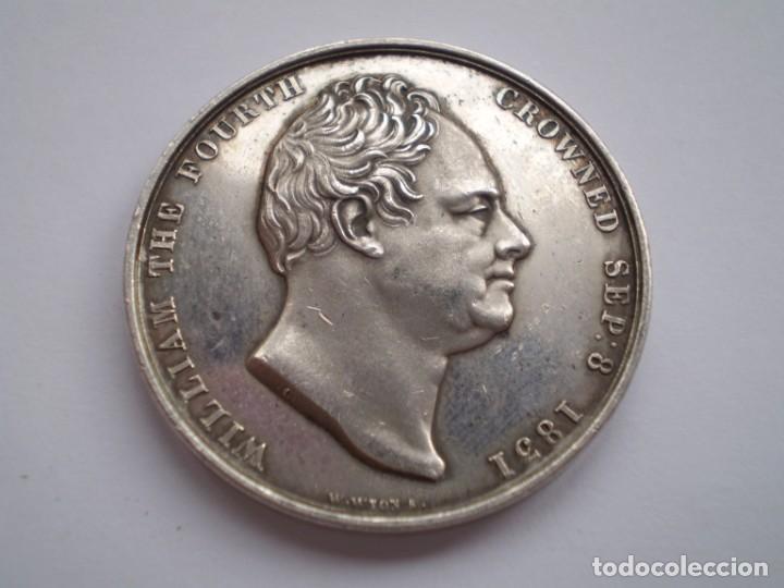 65SCD14 GRAN BRETAÑA 1831 CORONACIÓN DE WILLIAM IV Y ADELAIDA MEDALLA OFICIAL DE LA ROYAL MINT (Numismática - Medallería - Histórica)