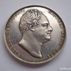 Medallas históricas: 65SCD14 GRAN BRETAÑA 1831 CORONACIÓN DE WILLIAM IV Y ADELAIDA MEDALLA OFICIAL DE LA ROYAL MINT. Lote 269982598
