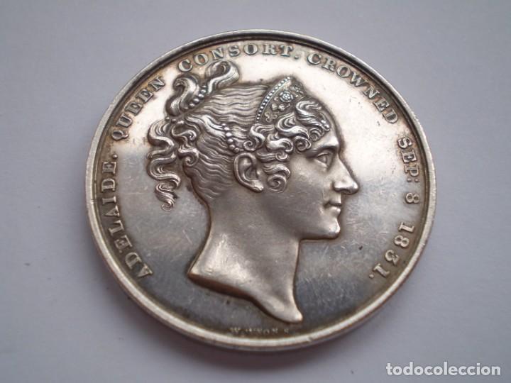 Medallas históricas: 65SCD14 Gran Bretaña 1831 Coronación de William IV y Adelaida medalla oficial de la Royal Mint - Foto 4 - 269982598