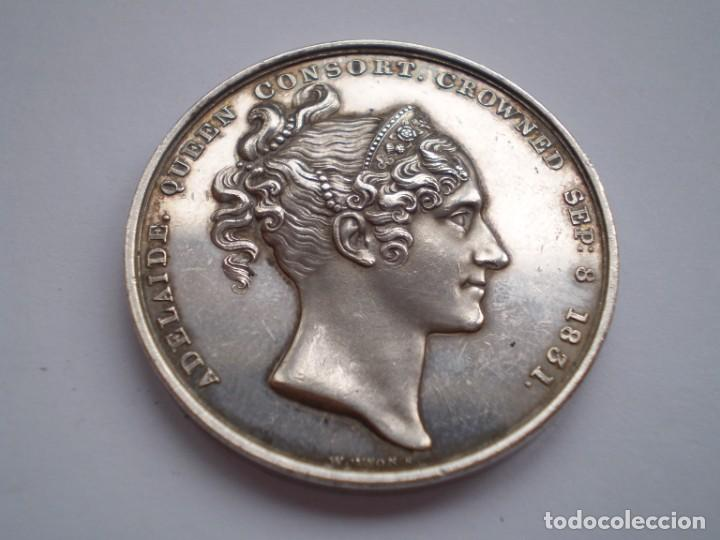 Medallas históricas: 65SCD14 Gran Bretaña 1831 Coronación de William IV y Adelaida medalla oficial de la Royal Mint - Foto 5 - 269982598