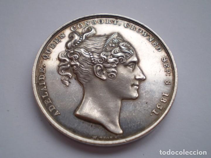 Medallas históricas: 65SCD14 Gran Bretaña 1831 Coronación de William IV y Adelaida medalla oficial de la Royal Mint - Foto 6 - 269982598