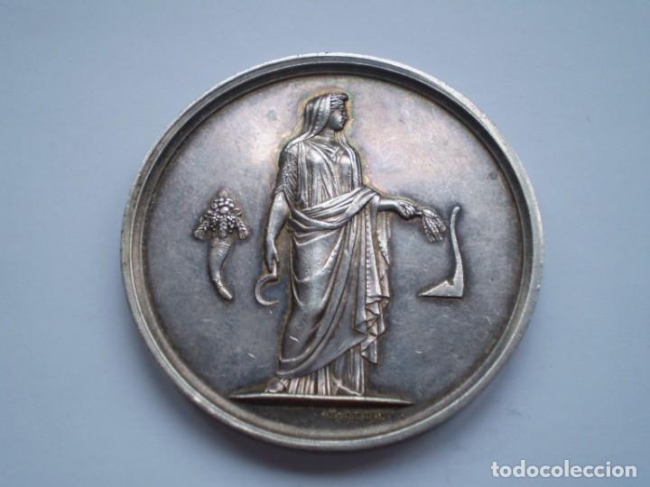 79SCD14 FRANCIA 1861 COMICE AGRICOLE DE DREUX MEDALLA DE PLATA (Numismática - Medallería - Histórica)