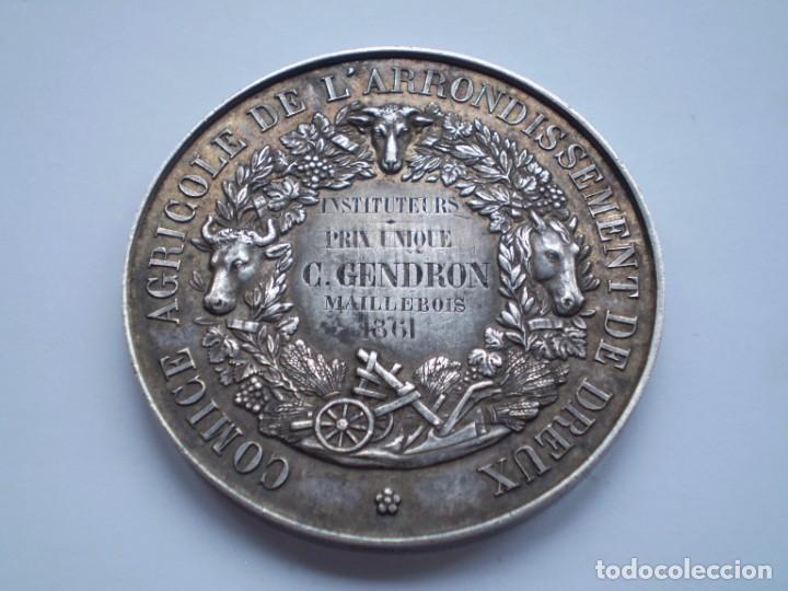 Medallas históricas: 79SCD14 Francia 1861 Comice Agricole de Dreux medalla de plata - Foto 4 - 269983108