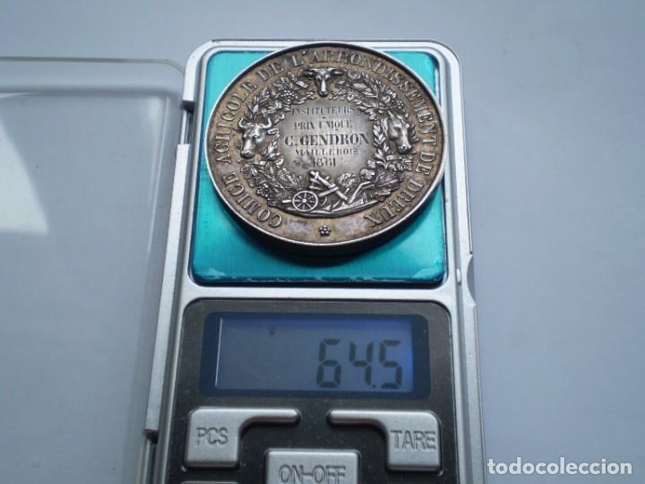 Medallas históricas: 79SCD14 Francia 1861 Comice Agricole de Dreux medalla de plata - Foto 6 - 269983108