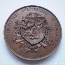 Medallas históricas: 82SCD14 SUIZA THURGAU FRAUENFELD 1890 MEDALLA DE BRONCE DEL FESTIVAL DE TIRO. Lote 270403573