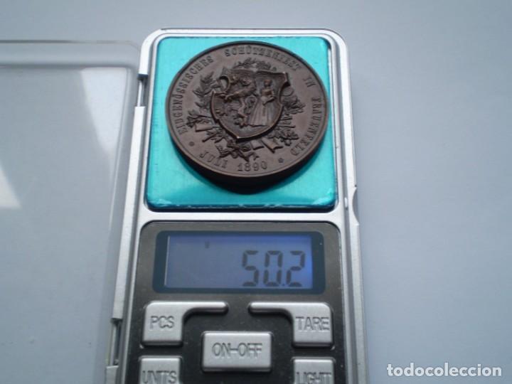 Medallas históricas: 82SCD14 Suiza Thurgau Frauenfeld 1890 medalla de bronce del festival de tiro - Foto 5 - 270403573