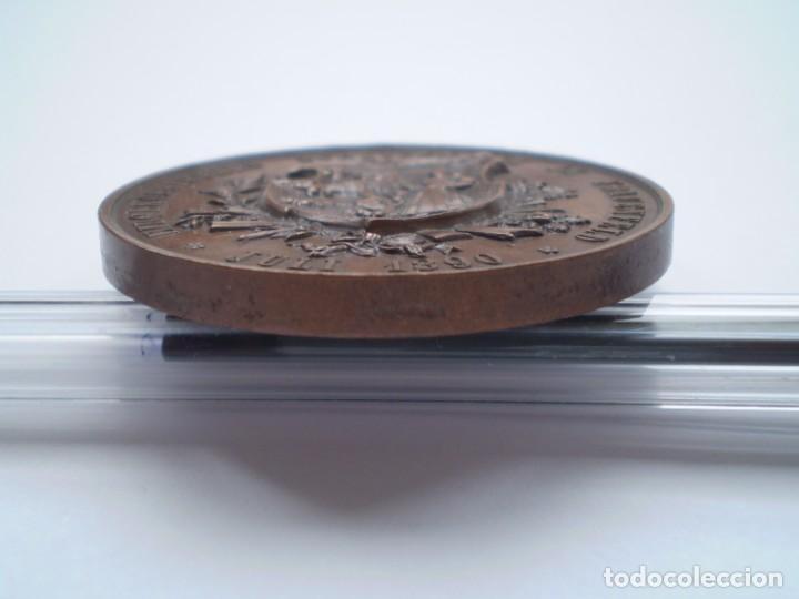 Medallas históricas: 82SCD14 Suiza Thurgau Frauenfeld 1890 medalla de bronce del festival de tiro - Foto 6 - 270403573