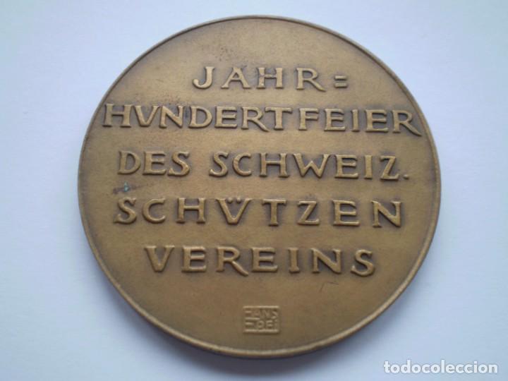 Medallas históricas: 81SCD14 Suiza Aarau 1924 medalla de bronce festival de tiro - Foto 3 - 270406903