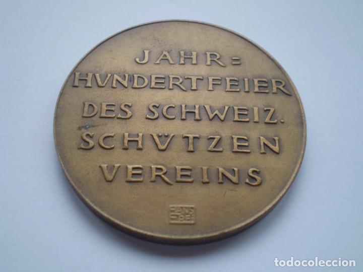 Medallas históricas: 81SCD14 Suiza Aarau 1924 medalla de bronce festival de tiro - Foto 4 - 270406903