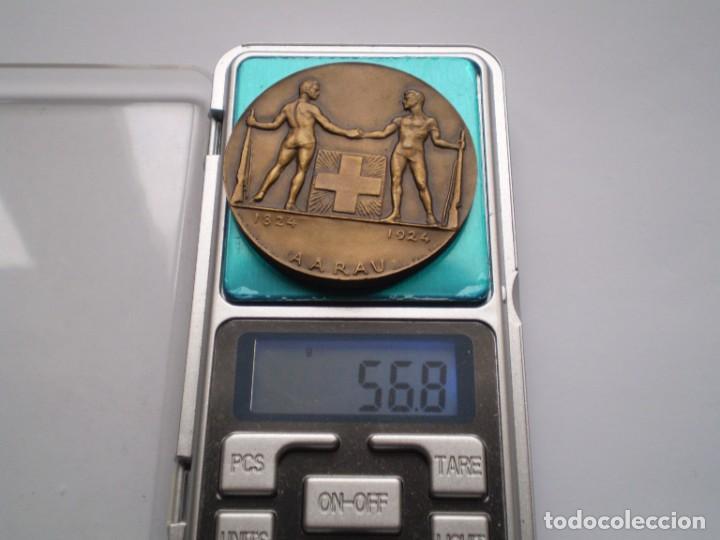 Medallas históricas: 81SCD14 Suiza Aarau 1924 medalla de bronce festival de tiro - Foto 5 - 270406903