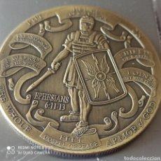Medallas históricas: RARA MEDALLA35 GR, REVERSO EPHESIANS 6:10-12. Lote 285491488
