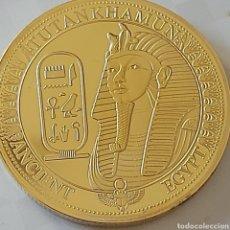 Medaglie storiche: MONEDA DE ORO DEL FARAÓN TUTANKAMON - EDICIÓN LIMITADA -. Lote 293790293
