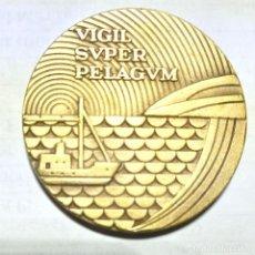 Medallas históricas: MEDALLA DE BRONCE DE LA C.T.N.E CONMEMORATIVA DE SU 50 ANIVERSARIOL. Lote 271037623