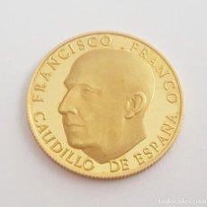 Medallas históricas: MONEDA MEDALLA DE FRANCO ORO MACIZO DE 22 KT CONMEMORATIVA LA LEY ORGANICA 14 DE DICIEMBRE 1966. Lote 273997528