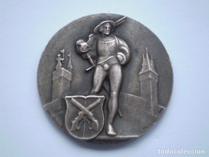 83SCD14 SUIZA LUCERNA MEDALLA FESTIVAL DE TIRO 1930 PLATA (Numismática - Medallería - Histórica)