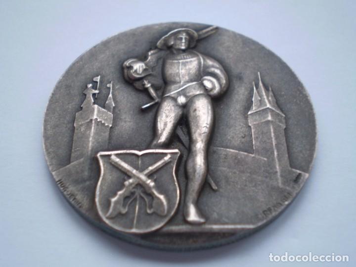 Medallas históricas: 83SCD14 Suiza Lucerna Medalla Festival de Tiro 1930 plata - Foto 2 - 274005158