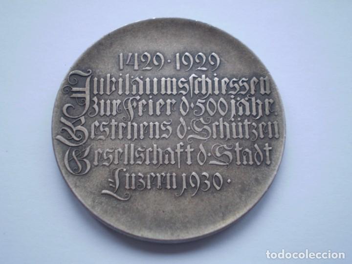 Medallas históricas: 83SCD14 Suiza Lucerna Medalla Festival de Tiro 1930 plata - Foto 3 - 274005158
