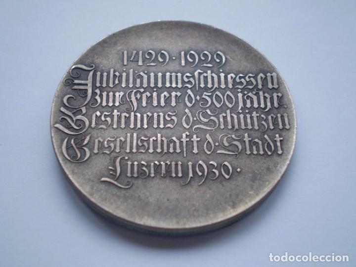 Medallas históricas: 83SCD14 Suiza Lucerna Medalla Festival de Tiro 1930 plata - Foto 4 - 274005158