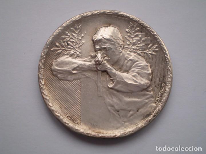 85SCD14 SUIZA NEUCHATEL (CHAUX DE FONDS) MEDALLA DE PLATA FESTIVAL DE TIRO 1913 (Numismática - Medallería - Histórica)