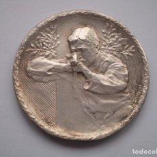Medallas históricas: 85SCD14 SUIZA NEUCHATEL (CHAUX DE FONDS) MEDALLA DE PLATA FESTIVAL DE TIRO 1913. Lote 274011428