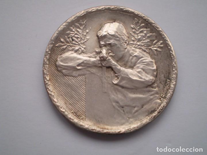 Medallas históricas: 85SCD14 Suiza Neuchatel (Chaux de Fonds) medalla de plata Festival de Tiro 1913 - Foto 2 - 274011428
