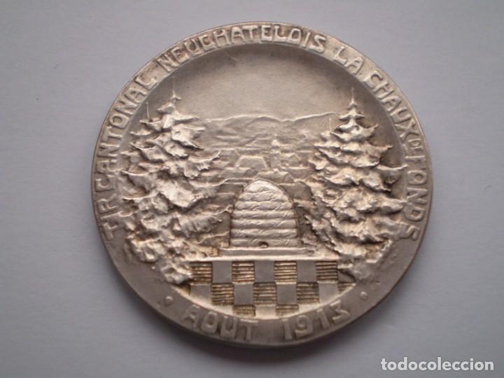 Medallas históricas: 85SCD14 Suiza Neuchatel (Chaux de Fonds) medalla de plata Festival de Tiro 1913 - Foto 4 - 274011428