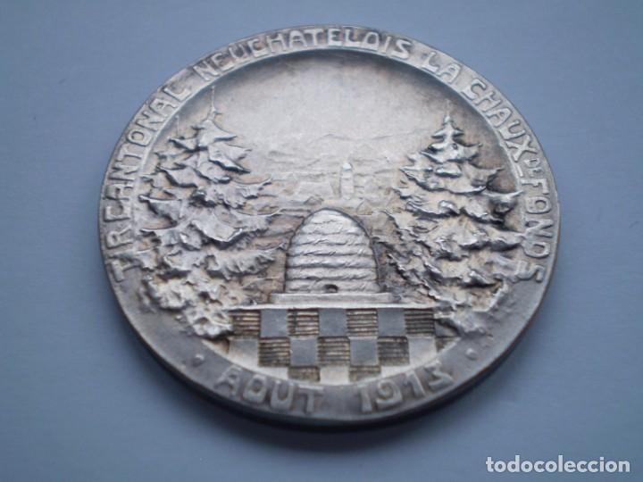 Medallas históricas: 85SCD14 Suiza Neuchatel (Chaux de Fonds) medalla de plata Festival de Tiro 1913 - Foto 5 - 274011428