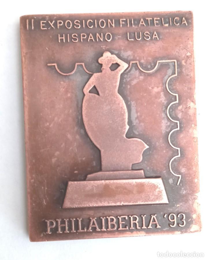 MEDALLA BRONCE EXPOSICIÓN FILATELICA PHILAIBERIA 93 . CÁDIZ- (Numismática - Medallería - Histórica)