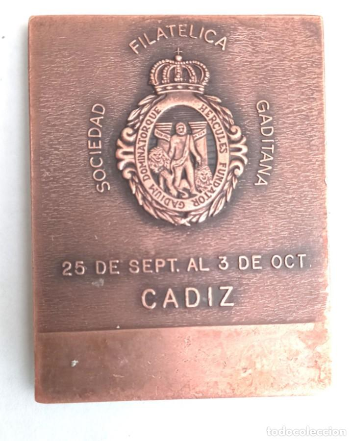Medallas históricas: Medalla bronce Exposición Filatelica PHILAIBERIA 93 . Cádiz- - Foto 2 - 274225308