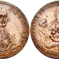 Medallas históricas: MEDALLA CARLOS IV 1789 SEVILLA PROCLAMACION ESCUELA DE LAS BELLAS ARTES. Lote 274440123