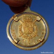 Medaglie storiche: MEDALLA DE ORO 900/1000 , JUAN CARLOS Y SOFIA , 1975 CON CERTIFICADO , ACUÑACIONES NACIONALES 5,3GR. Lote 276747413