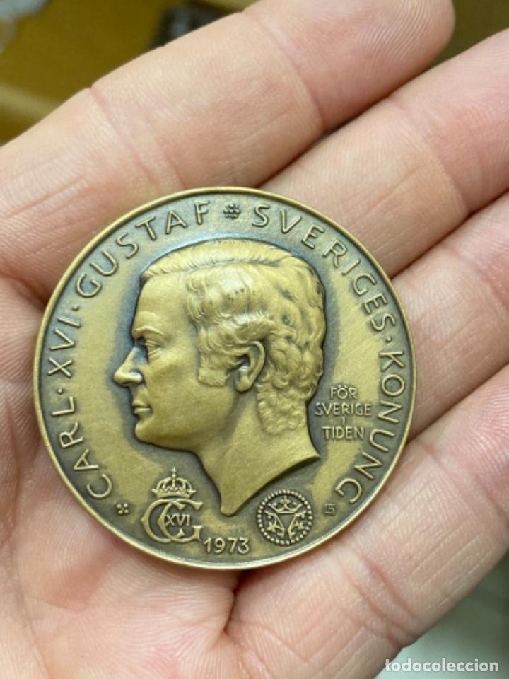 Medallas históricas: Antigua medalla sueca a clasificar - Foto 2 - 276793473